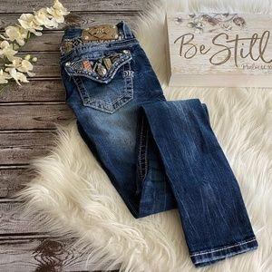 Miss Me Skinny Jeans Button Flap Pocket, Size 24